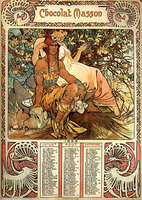 Mucha Painting - Chocolat Masson Poster by Philip Ralley