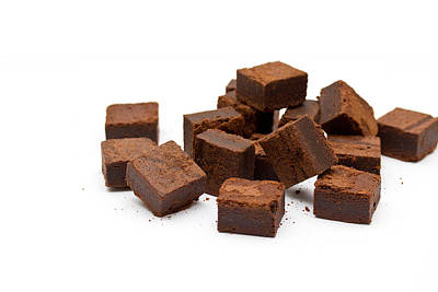 Chocolate Brownies Print by Mike Taylor