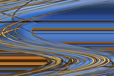 Abstract Forms Digital Art - Chocolate by Carol Lynch