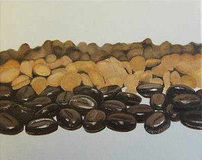 Chocolate Covered Coffee Beans Print by Cecilia Brendel
