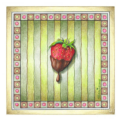 Chocolate Covered Strawberry Print by Pop Art Diva
