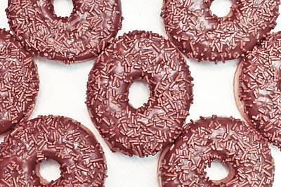 Obesity Photograph - Chocolate Donuts by Tom Gowanlock