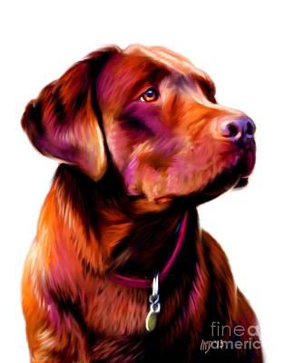 Chocolate Lab Puppy Painting - Chocolate Lab Art Work by Iain McDonald