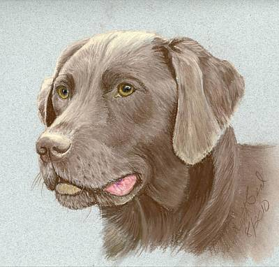 Chocolate Labrador Retriever Painting - Chocolate Labrador Retriever by Ruth Seal