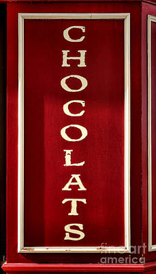Food Stores Photograph - Chocolats by Olivier Le Queinec
