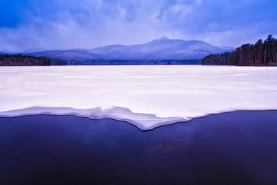 Chocorua Reflected In Ice And Snow Print by Jeff Sinon