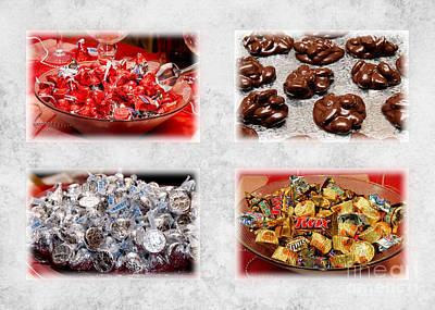 Choice Of Chocolate 4 X 4 Collage 2 - Sweets - Candy Shoppe Print by Andee Design