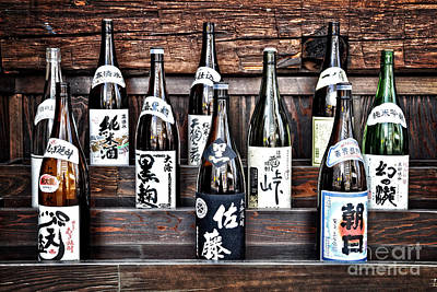 Sake Bottle Photograph - Choice Of Sake by Delphimages Photo Creations