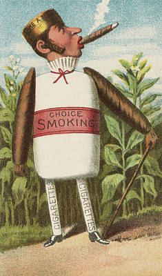 Vegetable Gardens Drawing - Choice Smoking by Aged Pixel