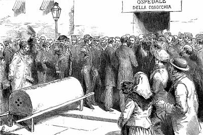 Cholera Epidemic In Naples Print by Universal History Archive/uig