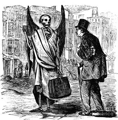 Cholera In Slums, 1866 Print by Granger