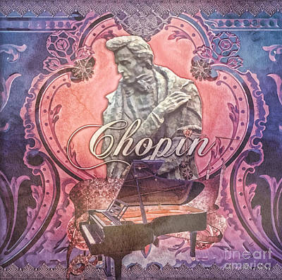 Statue Portrait Painting - Chopin by Mo T