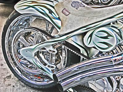 Chopper Belt Drive Detail Print by Samuel Sheats