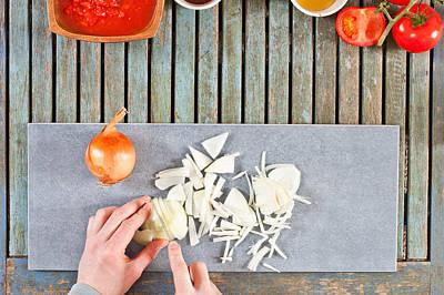 Chopping Onions Print by Tom Gowanlock