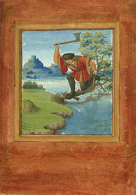 Chopping The Supporting Branch Print by British Library