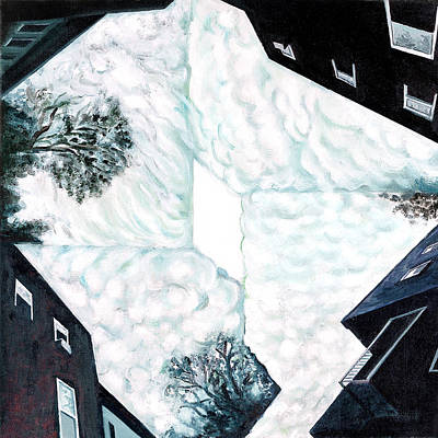 Montreal Buildings Painting - Choreography In by Constance Beaulieu