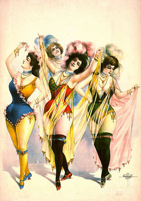 Choker Photograph - Chorus Girls 1899 by Padre Art
