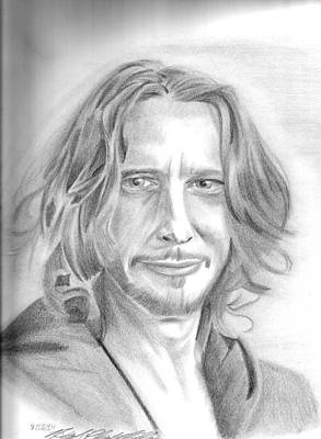 Soundgarden Drawing - Chris Cornell by Hannah Christine Nicholson