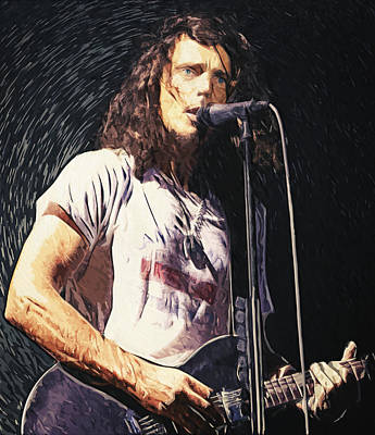 Chris Cornell Print by Taylan Soyturk