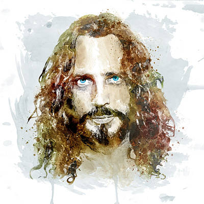Chris Cornell Watercolor Print by Marian Voicu