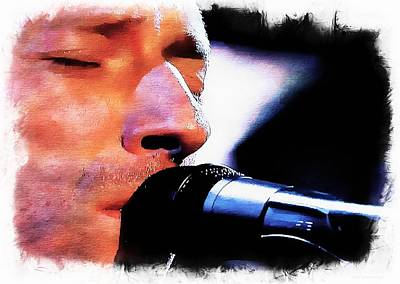 Coldplay Digital Art - Chris Martin   Coldplay by John Delong