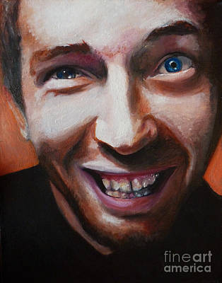 Chris Martin From Coldplay Original by Rachel Elliott