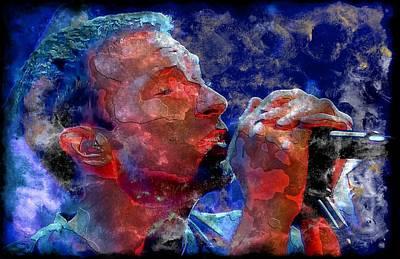 Coldplay Digital Art - Chris Martin Steel by John Delong