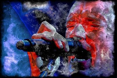 Coldplay Digital Art - Chris Martin Steel Two by John Delong