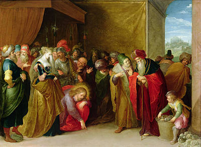 Femme Photograph - Christ And The Woman Taken In Adultery by Frans II the Younger Francken