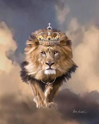 Lion Of Judah Painting - Lion Of Judah - The King Of Kings by Dale Kunkel Art