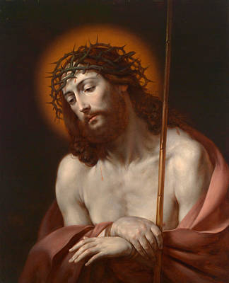 With Prayer Painting - Christ As Man Of Sorrows by Anonymous