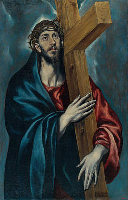Religion Painting - Christ Carrying The Cross by Celestial Images