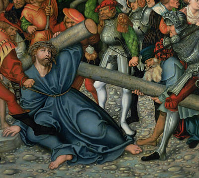 Christ Carrying The Cross Print by Lucas Cranach