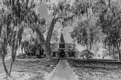 Pen And Ink Drawing Photograph - Christ Church Etching by Debra and Dave Vanderlaan