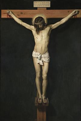 Jesus Christ Digital Art - Christ Crucified by Diego Rodriguez de Silva Velazquez