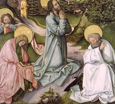 Christ In Gethsemane  Print by Hans Leonard Schaufelein