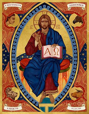 Christ In Majesty Print by Lawrence Klimecki