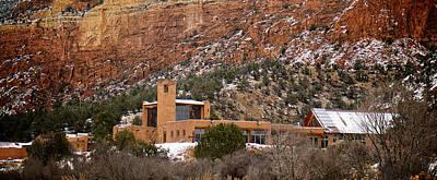 Adobe Church Photograph - Christ In The Desert Monastery by Mary Lee Dereske