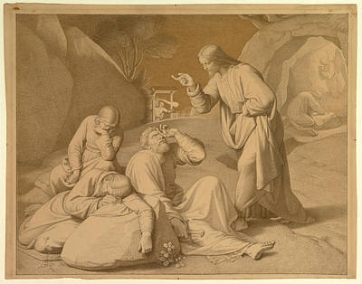 Friedrich Overbeck Drawing - Christ In The Garden Of Gethsemane by Friedrich Overbeck