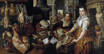 Martha Mary Painting - Christ In The House Of Martha And Mary by Joachim Beuckelaer