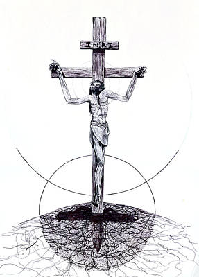 Metaphysical Drawing - Christ by Kd Neeley