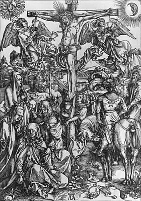 Saviour Drawing - Christ On The Cross by Albrecht Durer or Duerer