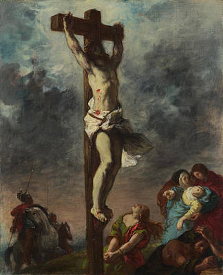 Eugene Delacroix Painting - Christ On The Cross by Eugene Delacroix