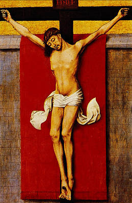 Christ On The Cross Print by Rogier van der Weyden