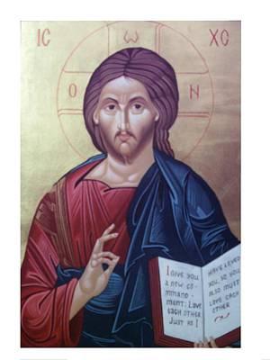 Christ Pantocrator-byzantine Icon Print by Janeta Todorova