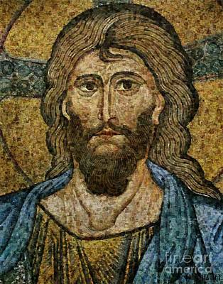Colorful Painting - Christ Pantocrator From Cefalu by Dragica  Micki Fortuna