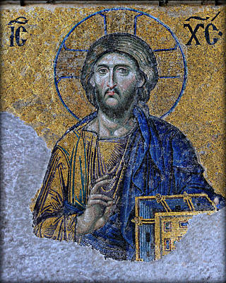 Mosaic Photograph - Christ Pantocrator -- Hagia Sophia by Stephen Stookey
