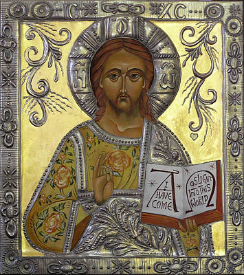 Christ Pantocrator Print by Mary jane Miller