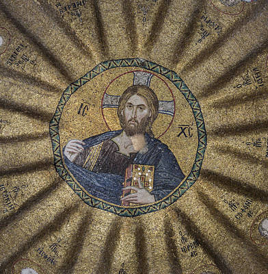 Christ Pantocrator Surrounded By The Prophets Of The Old Testament 1 Print by Ayhan Altun