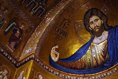 Mosaico Photograph - Christ Pantocrator  by Valentina  De Santis